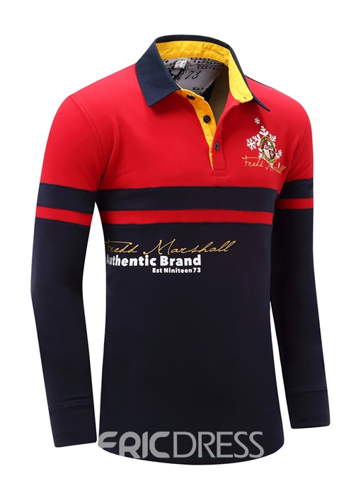 Ericdress Embroidery Long Sleeve Casual Men's T-Shirt