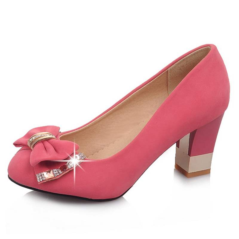 Ericdress Suede Bowtie Decorated Pumps