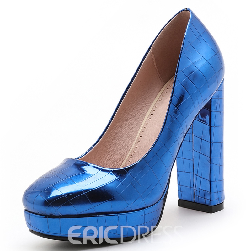 Ericdress Bright Color Chunky Heel Pumps