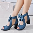Ericdress Pretty Bowtie Peep Toe Chunky Sandals