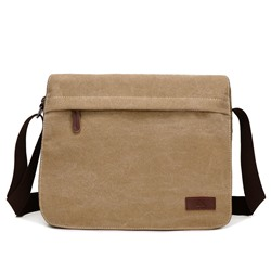 Ericdress Vintage Solid Color Canvas Mens Shoulder Bag