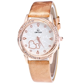 Ericdress Ladylike Round Case Rose Gold Women's Watch
