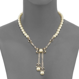 Ericdress Bowknot Design Artificial Pearls Beading Necklace