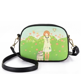 Ericdress Fresh Cartoon Print Shoulder Bag