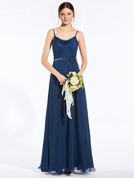 Ericdress Popular Spaghetti Straps Backless A Line Bridesmaid Dress