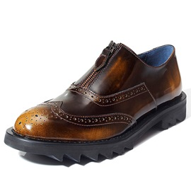 Ericdress Brush Off Zipper Decorated Men's Oxfords