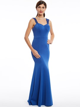Ericdress Straps Zipper-Up Floor-Length Mermaid Evening Dress