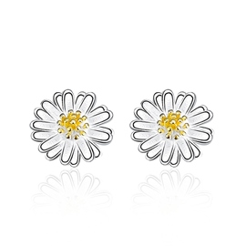 Ericdress 925 Silver Little Daisy Stud Earrings