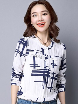 Ericdress Casual Geometric Blouse