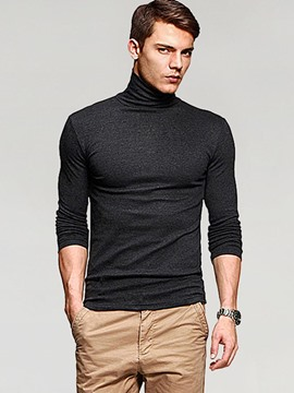 Ericdress Turtleneck Long Sleeve Slim Men's T-Shirt