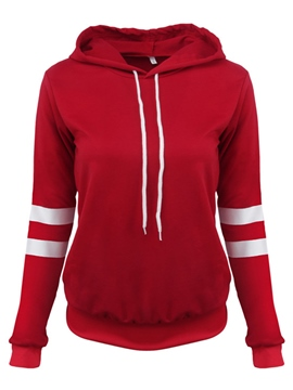 Ericdress Color Block Stripped Casual Hoodie