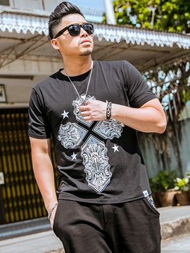 Ericdress Plus Size Street Style Casual Men's T-Shirt