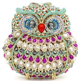 Ericdress Luxurious Rhinestone Owl Evening Clutch
