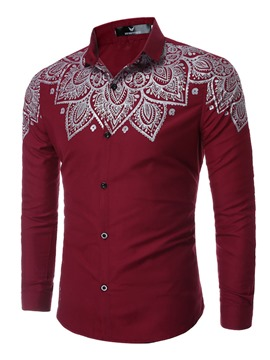 Ericdress Ethnic Style Long Sleeve Print Men's Shirt