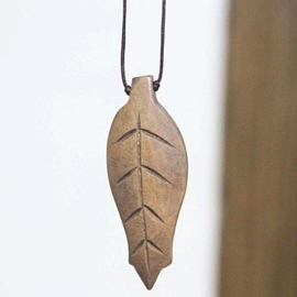 Ericdress Wooden Leaf Pendant Long Necklace for Mori Girl