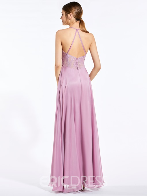 Ericdress Popular Halter A Line Long Bridesmaid Dress