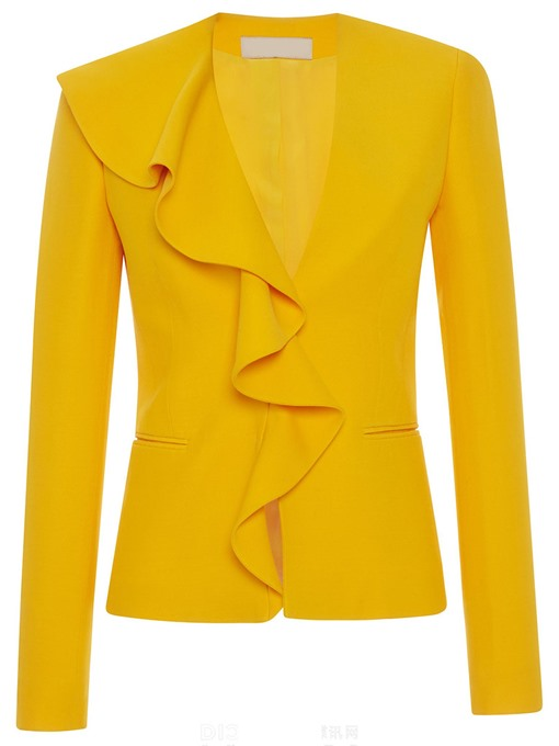 Ericdress Slim Candy Color Falbala Trim Blazer