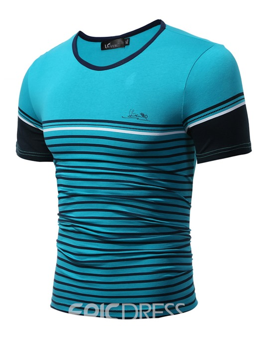 Ericdress Stripe Short Sleeve Men's T-Shirt