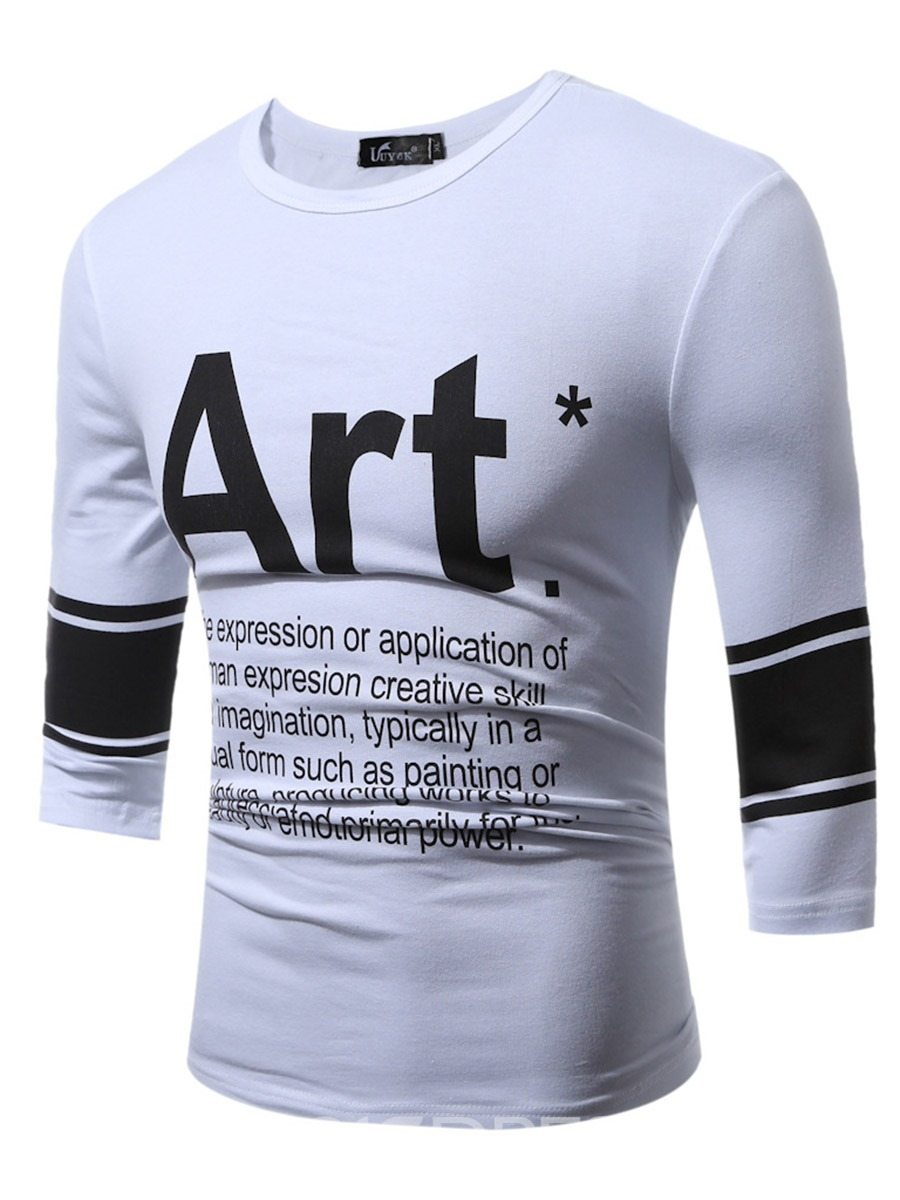 Ericdress Large Size Half Sleeve Print Casual Men's T-Shirt