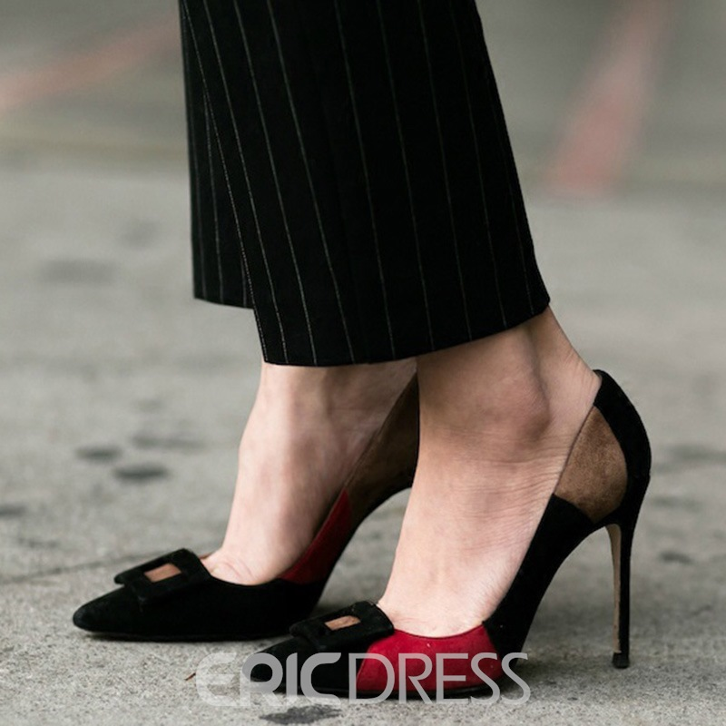 Ericdress Sexy Color Block Point Toe Pumps