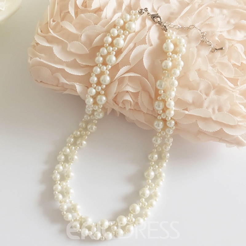 Ericdress Artificial Pearls Beaded All-Matched Necklace