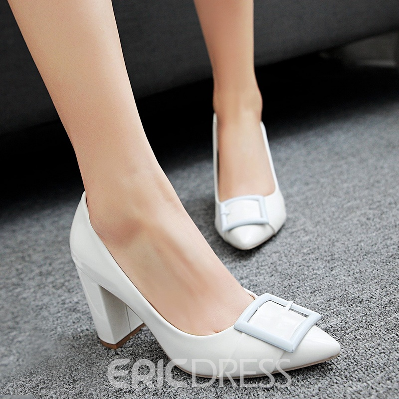 Ericdress Charming Patent Leather Point Toe Pumps