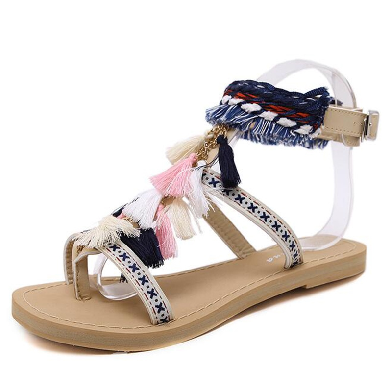 Ericdress Vintage Embroidery Flat Sandals