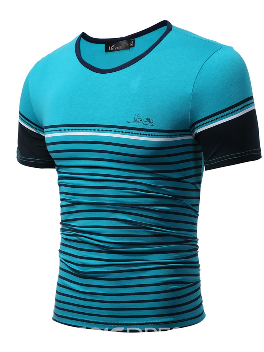 Ericdress Stripe Casual Short Sleeve Men's T-Shirt
