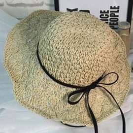 Ericdress Bowknot Decorated Foldable Hollow Straw Hat