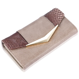 Ericdress rectangle serpentine patchwork wallet