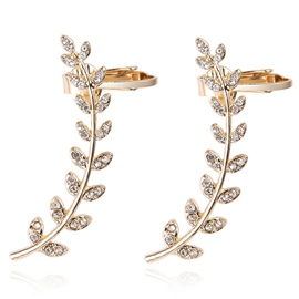 Ericdress European Style Golden Wings Diamante Alloy Ear Clips