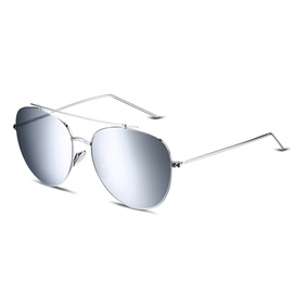Ericdress Personality Oval Silver Lens Anti-UV400 Sunglasses