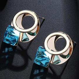 Ericdress Charming Blue Crystal Inlaid Alloy Stud Earrings