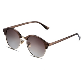 Ericdress HD Brown Lenses Half Frame Women's Sunglasses