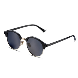 Ericdress New Style Round Grey Lens Half Frame Sunglasses