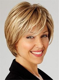 Ericdress Short Layered Shaggy Bob Straight Haircut Hairstyle Synthetic Hair Capless 10 Inches