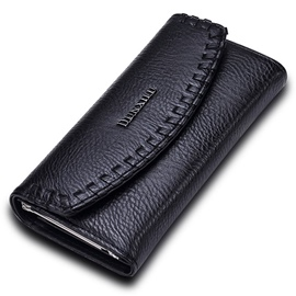 European Long Embossed Brim PU Wallet