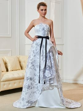 Ericdress Beautiful Strapless A Line Printed Wedding Dress