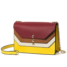 Ericdress Celebrity Patchwork Chain Decorated Crossbody Bag