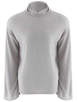 Ericdress Turlte Neck Gray Knitwear