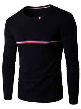 Ericdress Long Sleeve Simple Stripe Men's T-Shirt