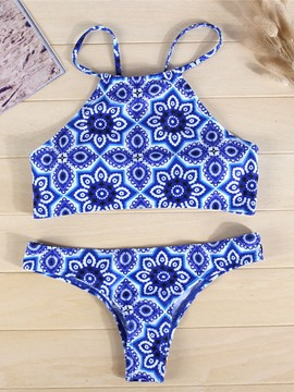 Ericdress Exquisite Flower Print Bikini Set