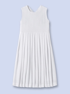 Ericdress Pleated Backless Solid Color Girls Dress