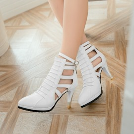 Ericdress Delicate Point Toe Cut Out Stiletto Sandals