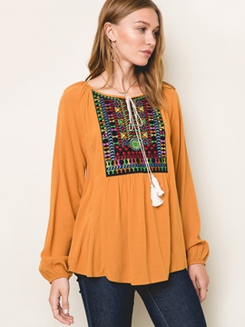 Ericdress Loose Ethnic Blouse