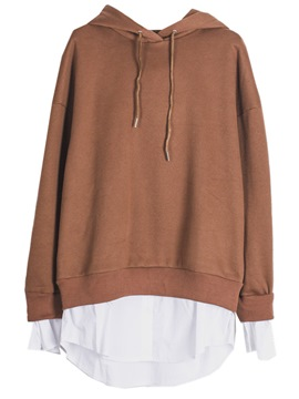 Ericdress Plain Double-Layer Oversized Cool Hoodie