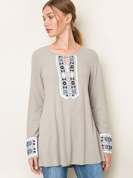 Ericdress Loose Ethnic Mid-Length T-Shirt