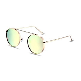 Ericdress Round Retro Pink Lenses Polarized Sunglasses