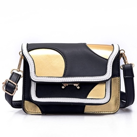 Ericdress Celebrity Color Block Latch Crossbody Bag