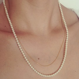 Ericdress Double Layers Handmade Beaded Artificial Pearl Necklace